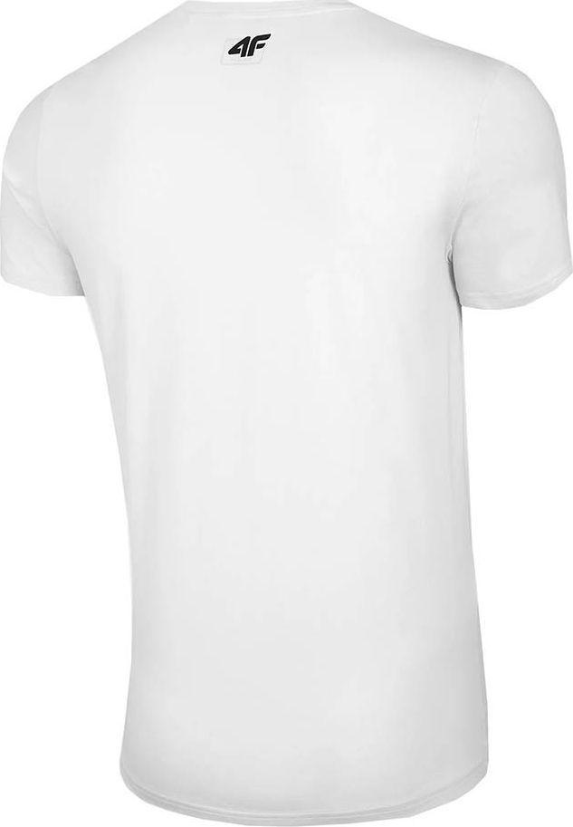 4f Koszulka męska 4F biała H4Z20 TSM020 10S : Rozmiar - L 1