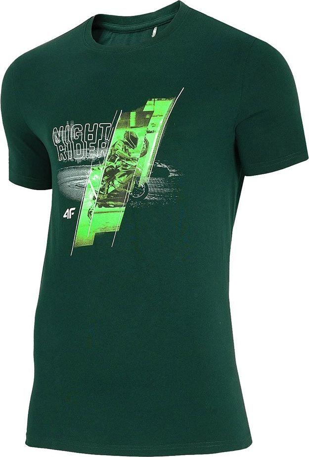 4f Koszulka męska 4F ciemno zielony H4Z20 TSM013 40S : Rozmiar - 2XL 1