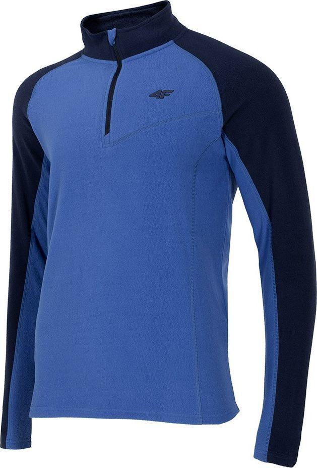 4f Bluza polarowa męska 4F niebieska H4Z20 BIMP033 33S : Rozmiar - XL 1