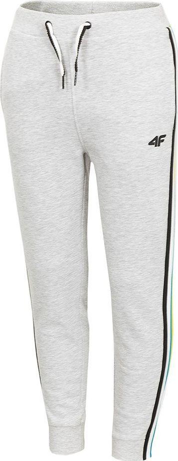 4f Spodnie dla chłopca 4F szary melanż HJZ20 JSPMD002 25M : Rozmiar - 128cm 1