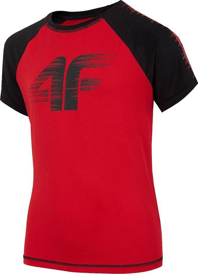 4f Koszulka dla chłopca 4F czerwona HJZ20 JTSM011A 62S : Rozmiar - 146cm 1