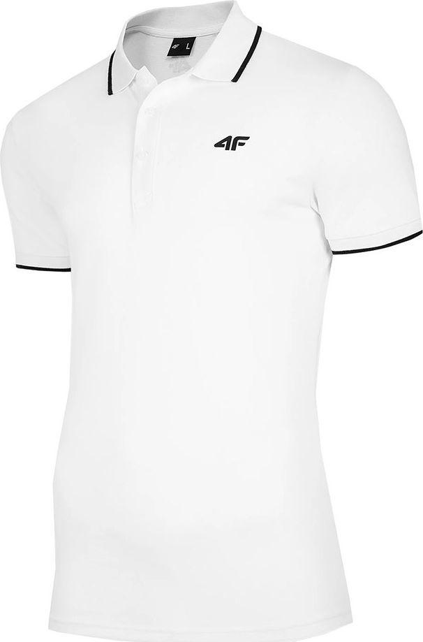 4f Koszulka męska 4F biała NOSH4 TSM009 10S : Rozmiar - 2XL 1
