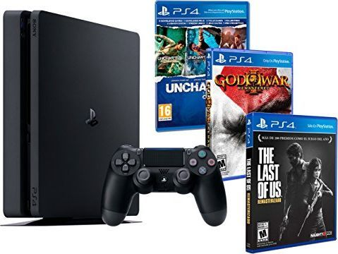 Sony Konsola Playstation 4 PS4 Slim 1Tb MEGAPACK 5 gier! The Last Of Us + Uncharted Collection (3 w 1) + God of War: Remastered HD 1