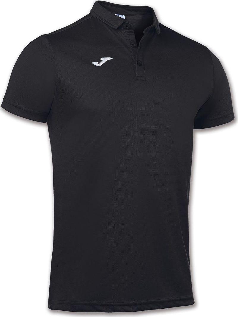Joma Czarna koszulka polo Joma Hobby 100437.100 Junior XS 1