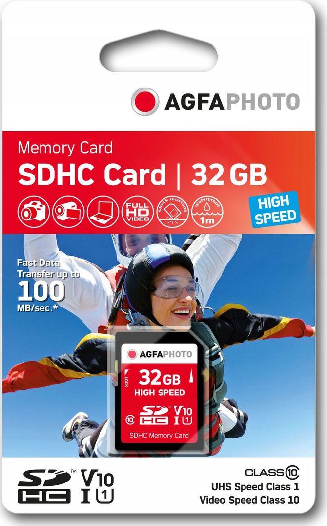 Karta AgfaPhoto Agfa SD SDHC 32 GB Class 10 UHS-I/U1 V10 (SB6035) 1