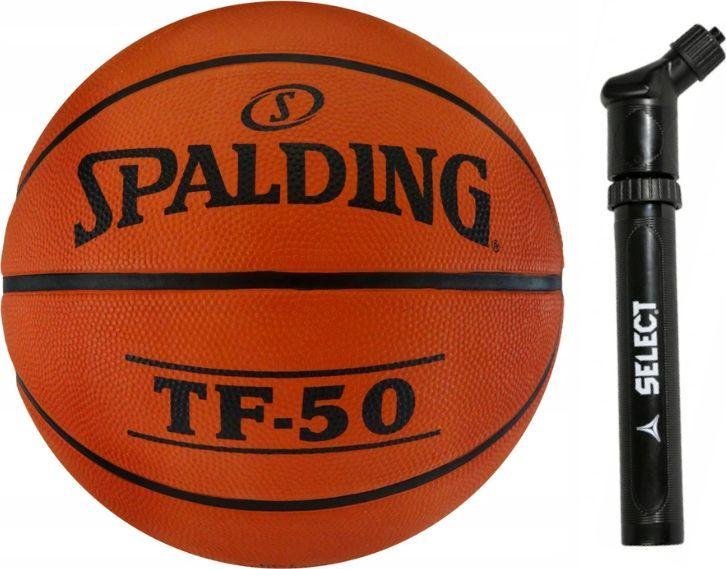 Spalding Brązowa piłka do koszykówki Spalding TF-50 - rozmiar 5 + pompka uniwersalny 1