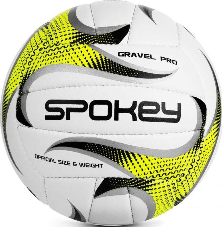 Spokey Piłka siatkowa GRAVEL PRO biało-żółta Spokey 1