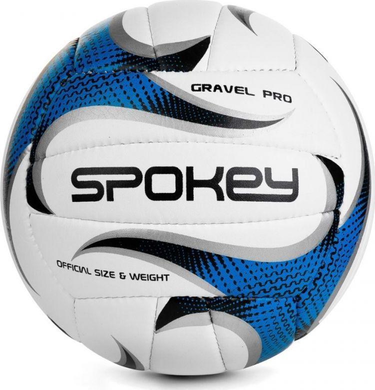 Spokey Piłka siatkowa GRAVEL PRO biało-niebieska Spokey 1