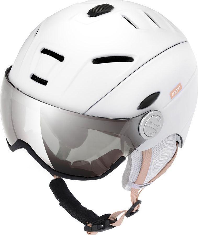 Meteor Kask narciarski z szybą HOLO biały Meteor Rozmiar 53-55 1