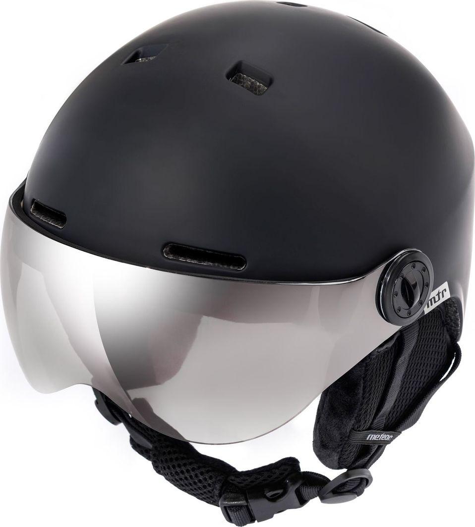Meteor Kask narciarski z szybą FALVEN czarny Meteor Rozmiar 53-55 1