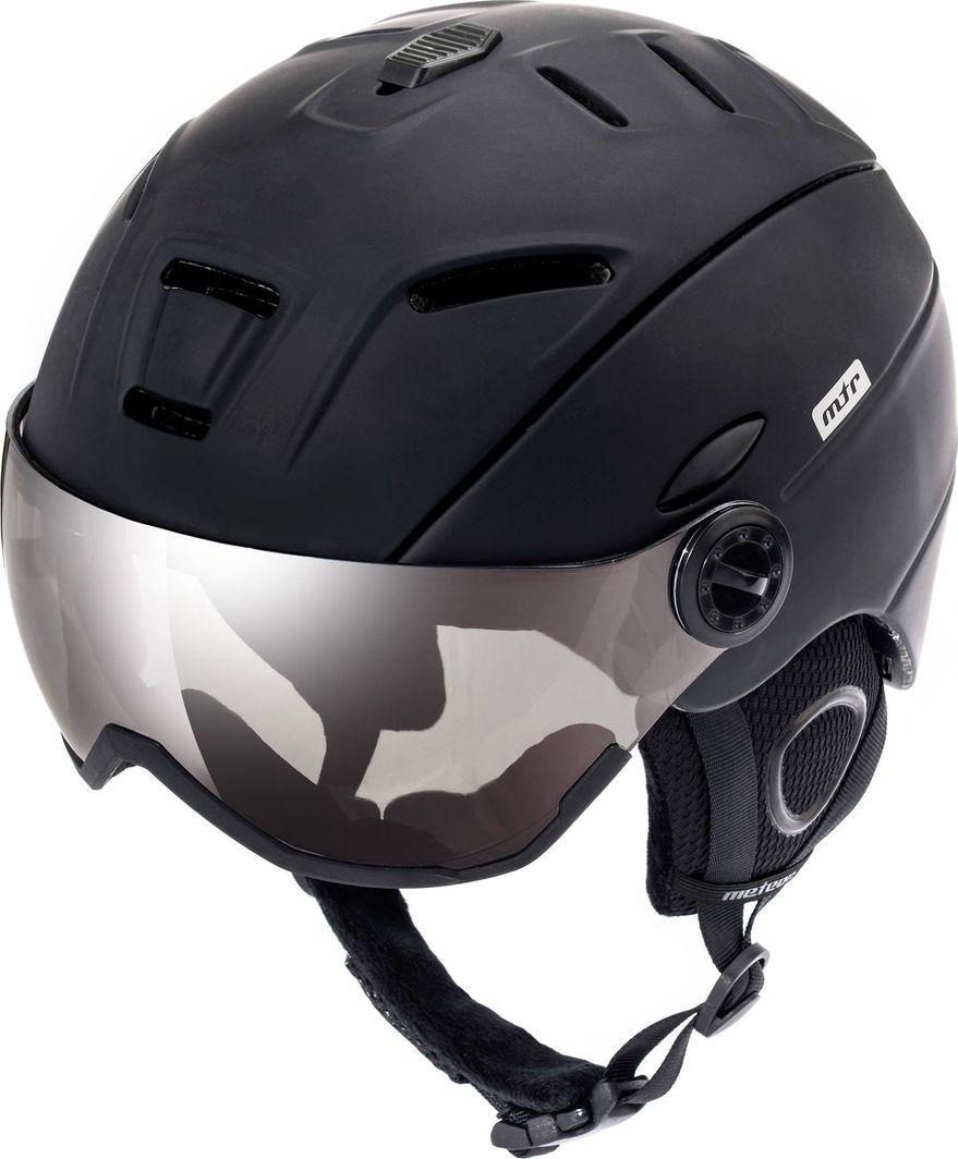 Meteor Kask narciarski z szybą HOLO czarny Meteor Rozmiar 55-58 1