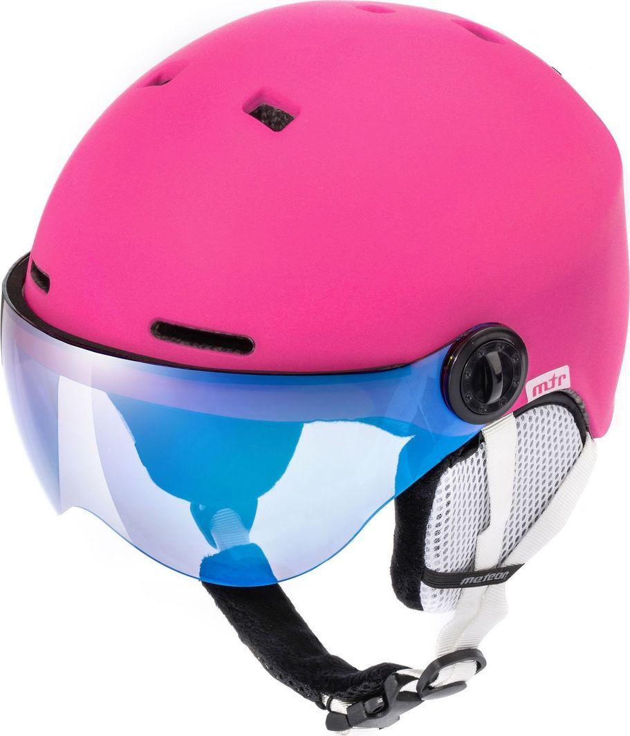 Meteor Kask narciarski z szybą FALVEN różowy Meteor Rozmiar 55-58 1