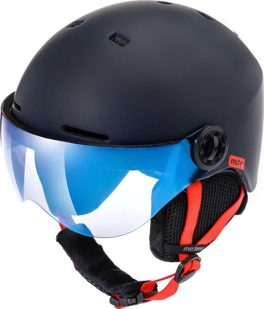 Meteor Kask narciarski z szybą FALVEN granatowy Meteor Rozmiar 55-58 1