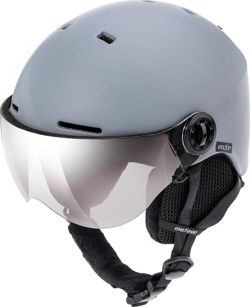 Meteor Kask narciarski z szybą FALVEN szary Meteor Rozmiar 58-61 1