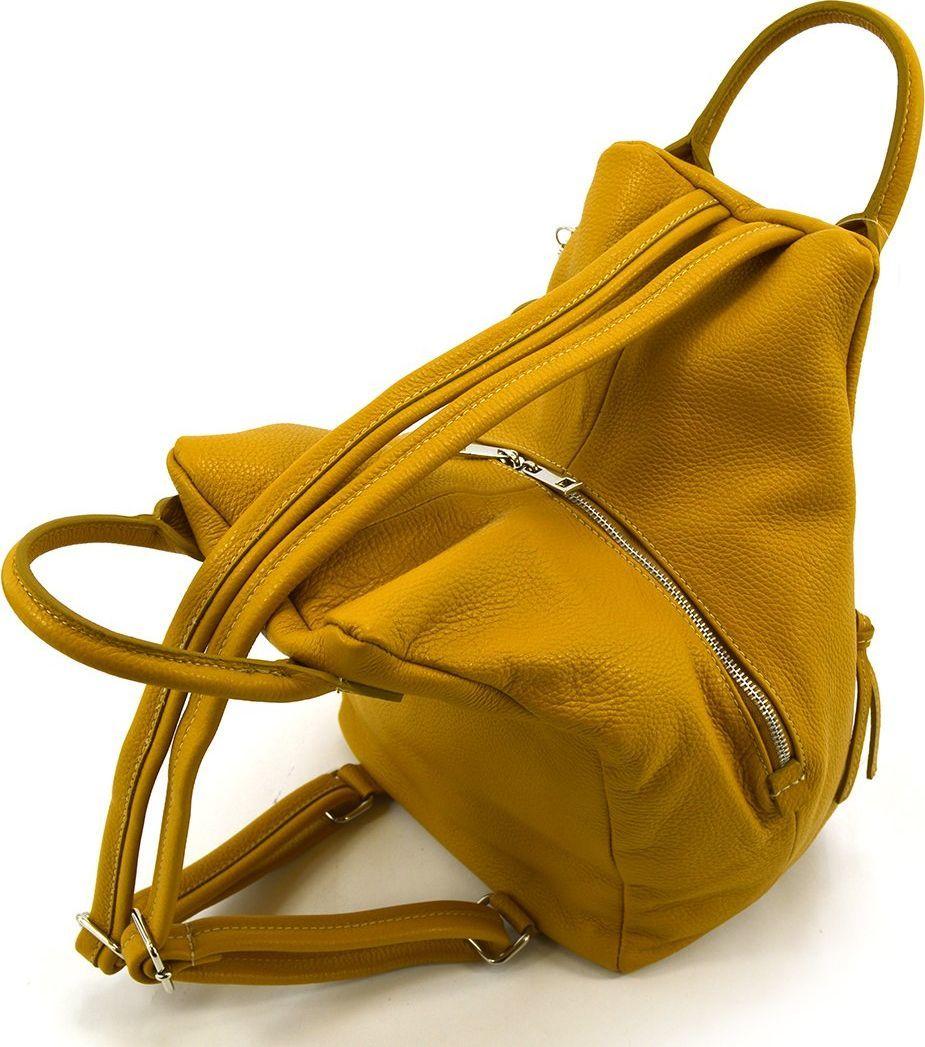 Vera Pelle Plecak skórzany vp936 żółty 1
