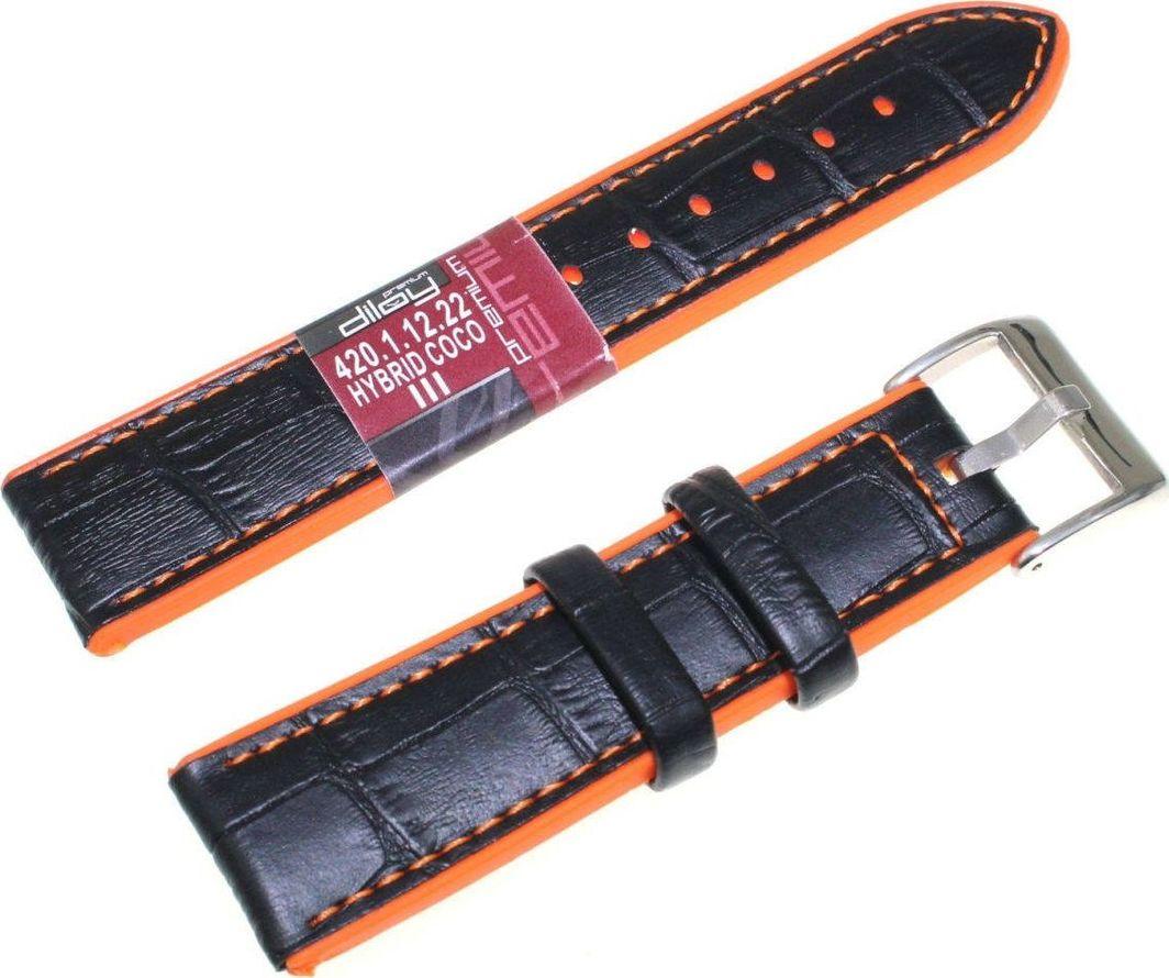 Diloy Pasek do zegarka Diloy Hybrid 22 mm 420.22.1.12 uniwersalny 1