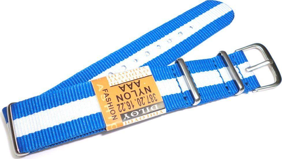 Diloy Nylonowy pasek do zegarka 20 mm Diloy 387.20.16.22 uniwersalny 1