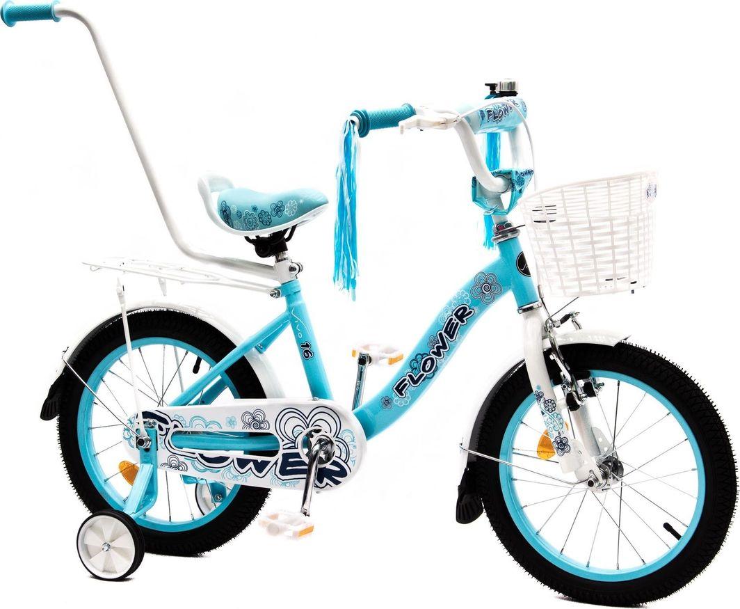 Vivo Rower dziecięcy FLOWER 16 błękitno-biały 1