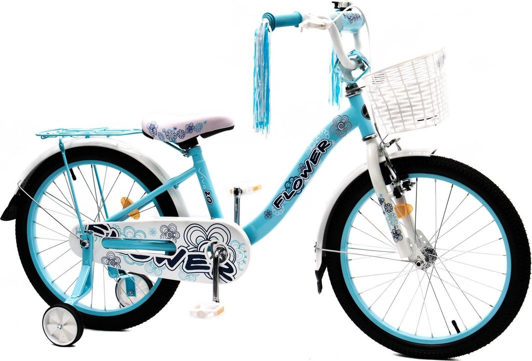 Vivo Rower dziecięcy FLOWER 20 błękitno-biały Uniwersalny 1