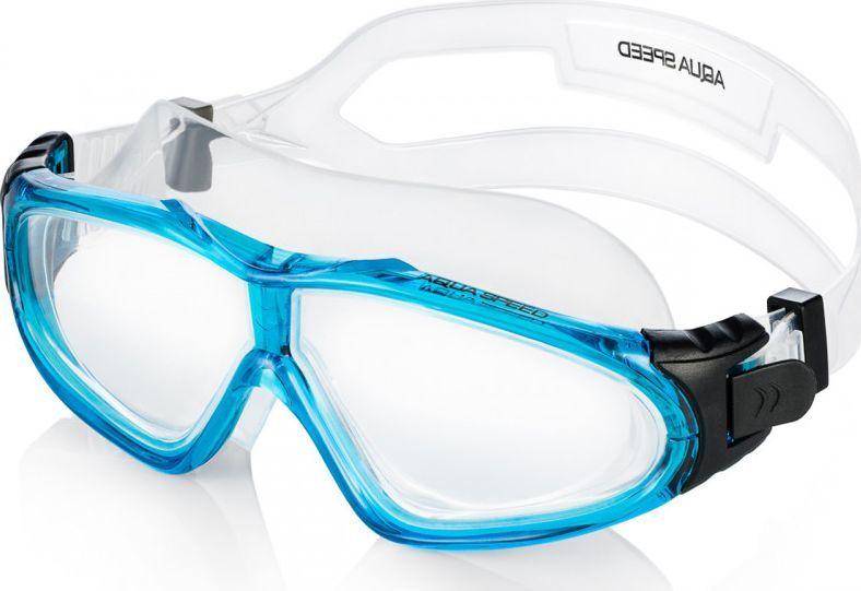 Aqua-Speed Gogle pływackie panoramiczne Sirocco jasnoniebieskie 1