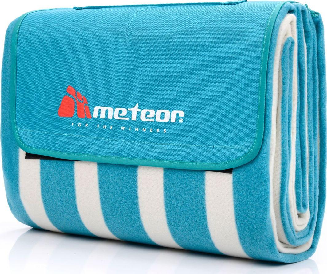 Meteor Koc piknikowy 170x200 cm biało-niebieskie pasy Meteor 1