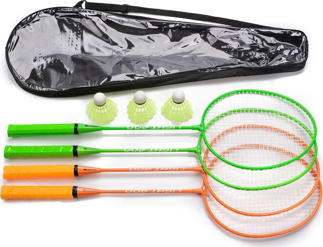 Meteor Zestaw do badmintona 4 rakietki + 3 lotki + pokrowiec Meteor 1