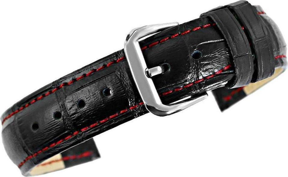 Kemer 'Pasek do zegarka - Skóra 18 mm 18K1 - Czarno-Czerwony uniwersalny 1