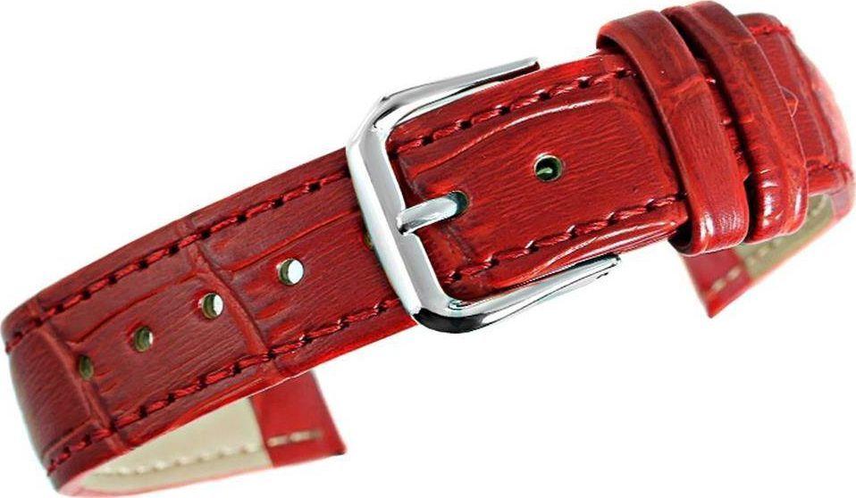 Kemer Pasek do zegarka - Skóra 18 mm 18K4 Czerwony uniwersalny 1