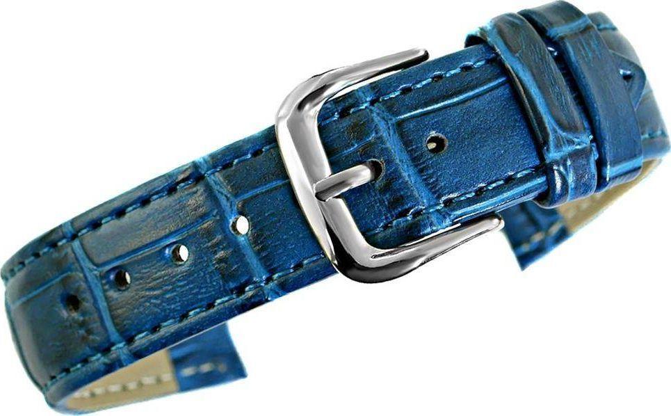 Kemer Pasek do zegarka - Skóra 18 mm 18k8 Niebieski uniwersalny 1