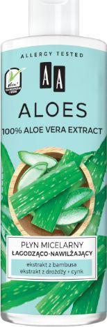 AA Aloes 100% Płyn micelarny łagodząco-nawilżający 400ml uniwersalny 1