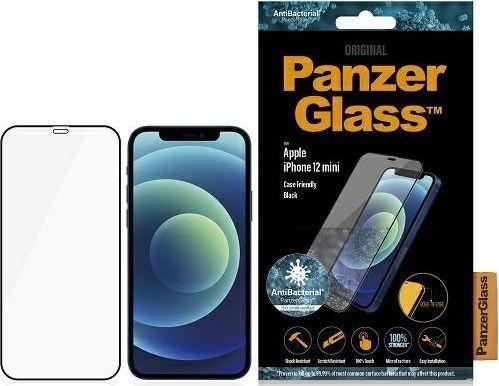 PanzerGlass Szkło hartowane antybakteryjne E2E Super+ do iPhone 12 Mini (2710) 1