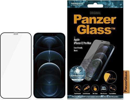 PanzerGlass Szkło hartowane antybakteryjne E2E Super+ do iPhone 12 Pro Max (2712) 1