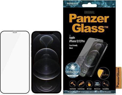 PanzerGlass Szkło hartowane antybakteryjne E2E Super+ do iPhone 12, iPhone 12 Pro (2711) 1