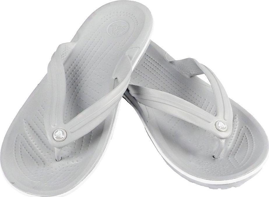 Crocs Crocs klapki Crocband Flip jasny szaro biały 11033 00J : Rozmiar - 38-39 1