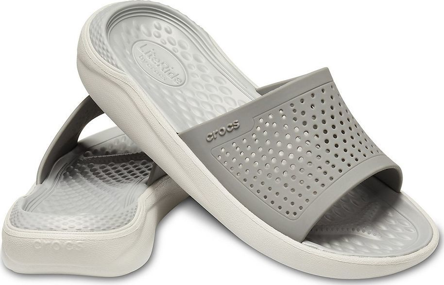 Crocs Crocs klapki Literide Slide szare 205183 06J : Rozmiar - 43-44 1