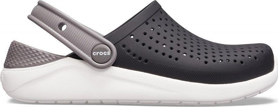 Crocs Crocs dla dzieci LiteRide Clog Kids czarno-białe 205964 066 : Rozmiar - 30-31 1