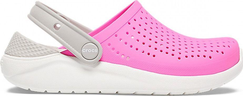 Crocs Crocs dla dzieci LiteRide Clog Kids różowo-białe 205964 6QR : Rozmiar - 27-28 1