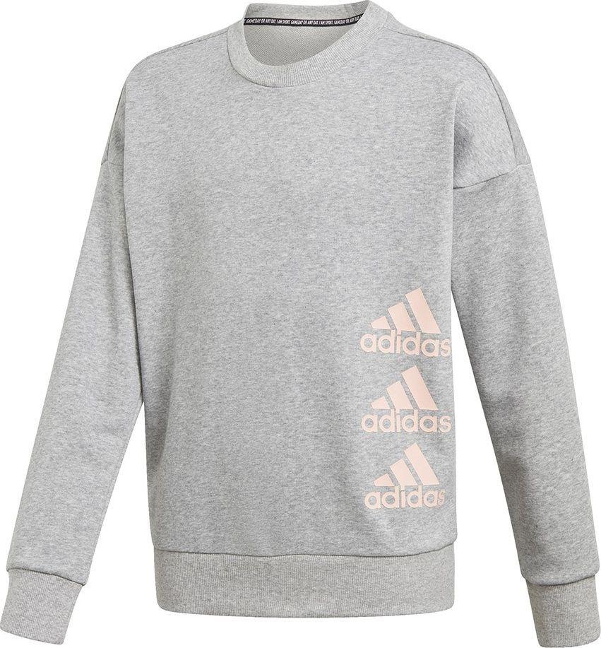 Adidas Bluza dla dzieci adidas Jg Mh Crew szara GK3237 : Rozmiar - 170cm 1