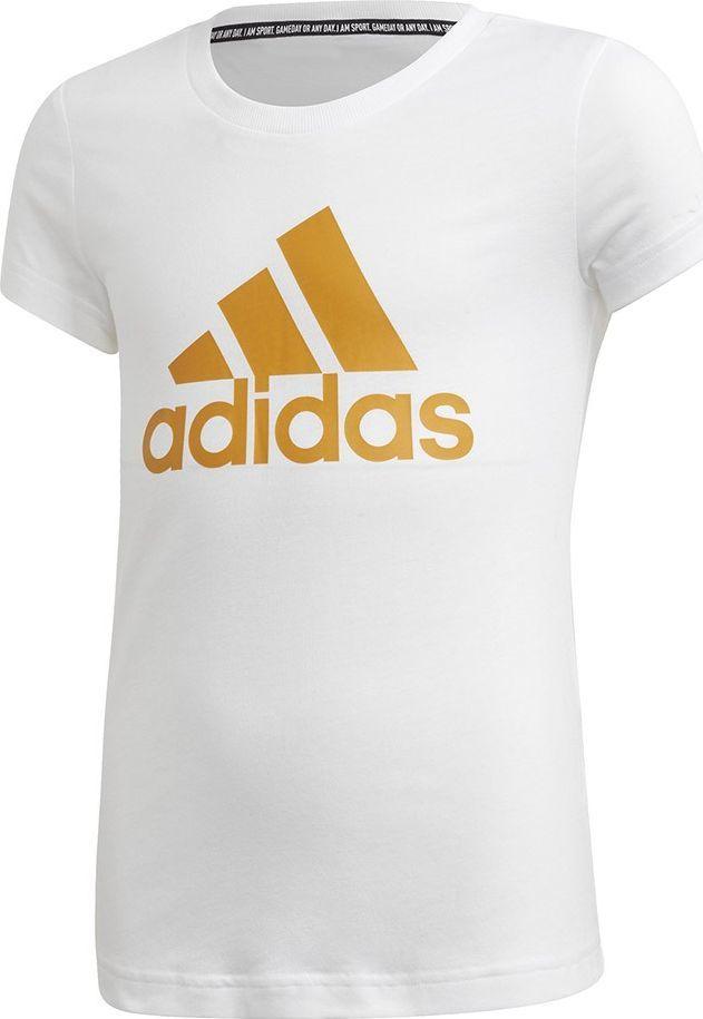Adidas Koszulka dla dzieci adidas Yg Mh Bos Tee biała GE0962 : Rozmiar - 164cm 1