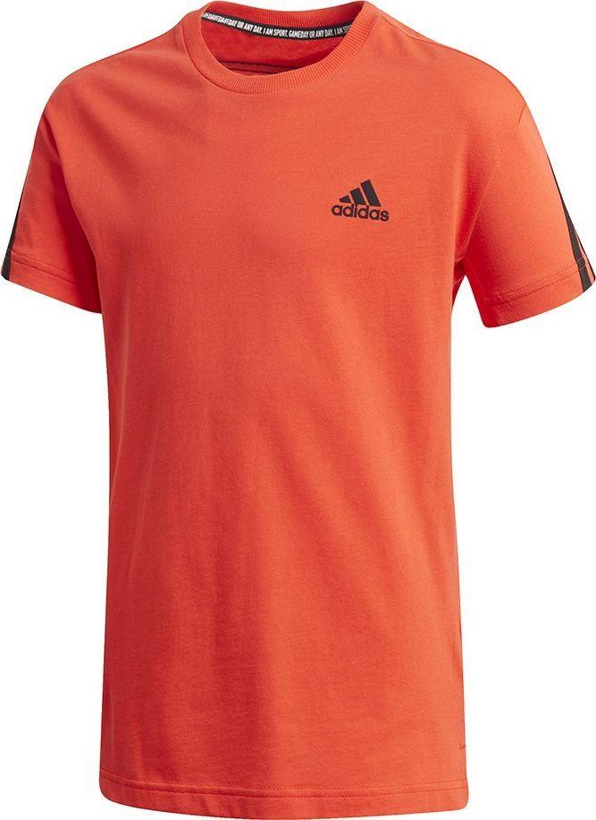 Adidas Koszulka dla dzieci adidas B 3S Tee pomarańczowa GK3194 : Rozmiar - 164cm 1