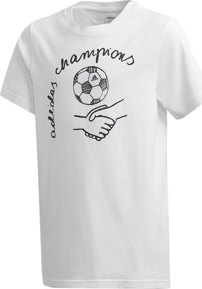 Adidas Koszulka dla dzieci adidas Yb Graph Tee biała GD6121 : Rozmiar - 164cm 1
