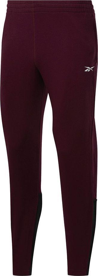Reebok Spodnie męskie Reebok TE Linear Logo Jogger burgundowe FU3215 : Rozmiar - L 1
