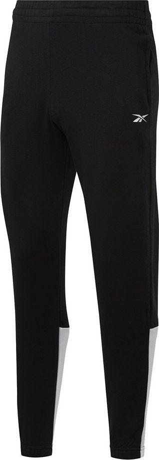Reebok Spodnie męskie Reebok TE Linear Logo Jogger czarno-białe FU3217 : Rozmiar - 2XL 1