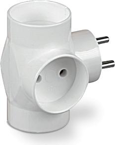 Plastrol rozdzielacz R-30, 3x wtyk okrągły, biały 1