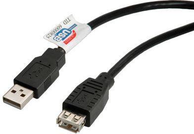 Kabel USB Roline A-A, męsko-żeński, 3m, czarny (11.02.8960) 1