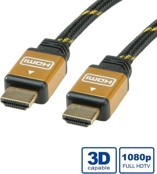 Kabel Roline HDMI - HDMI 15m złoty (11.04.5560) 1