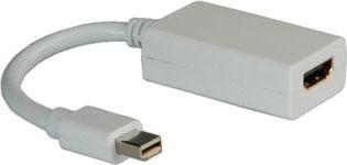 Kabel Roline DisplayPort Mini - HDMI 0.1m biały (12.03.3129) 1
