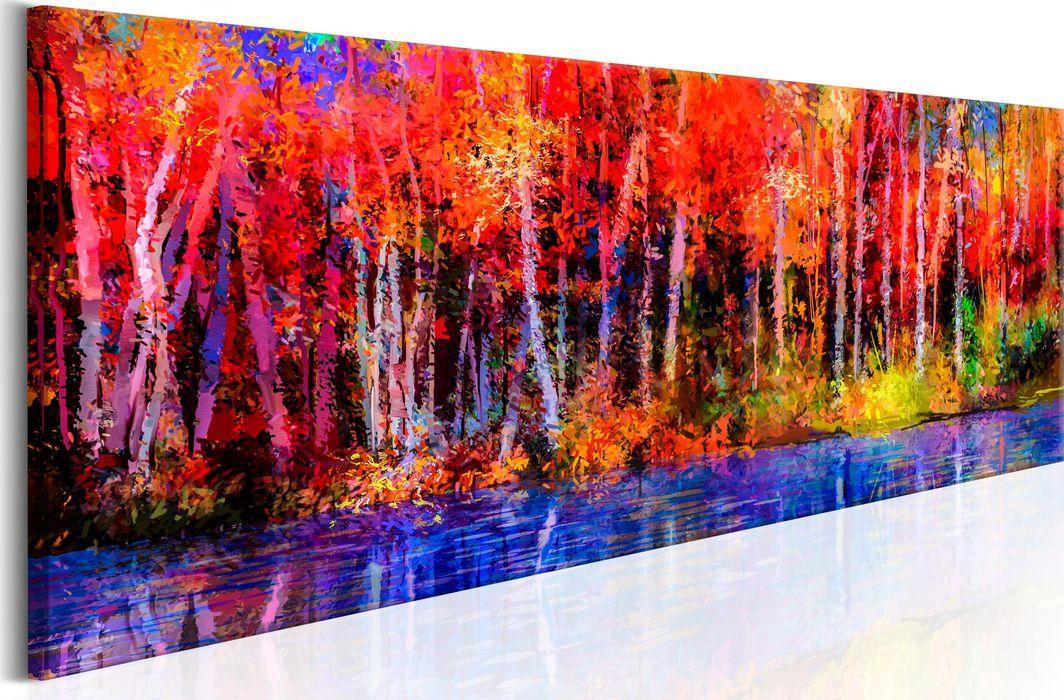 Artgeist Obraz - Kolorowe jesienne drzewa ARTGEIST 1