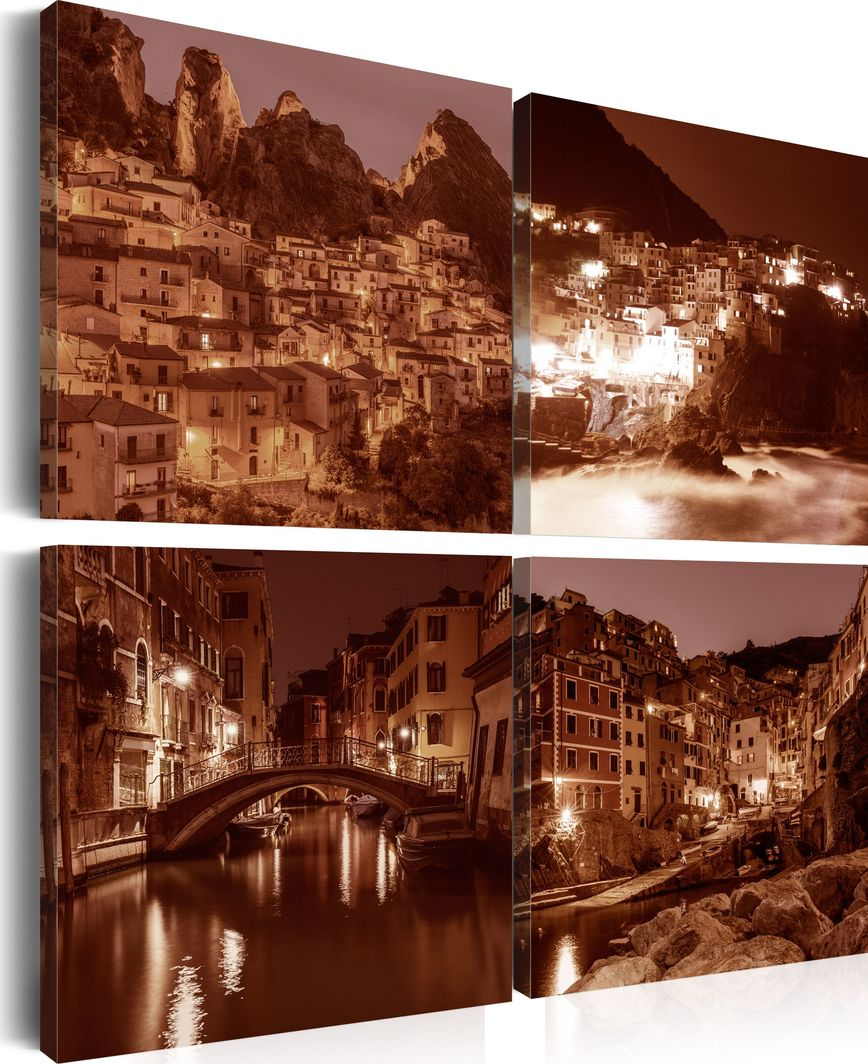Artgeist Obraz - Włoskie miasteczka (Sepia) ARTGEIST 1
