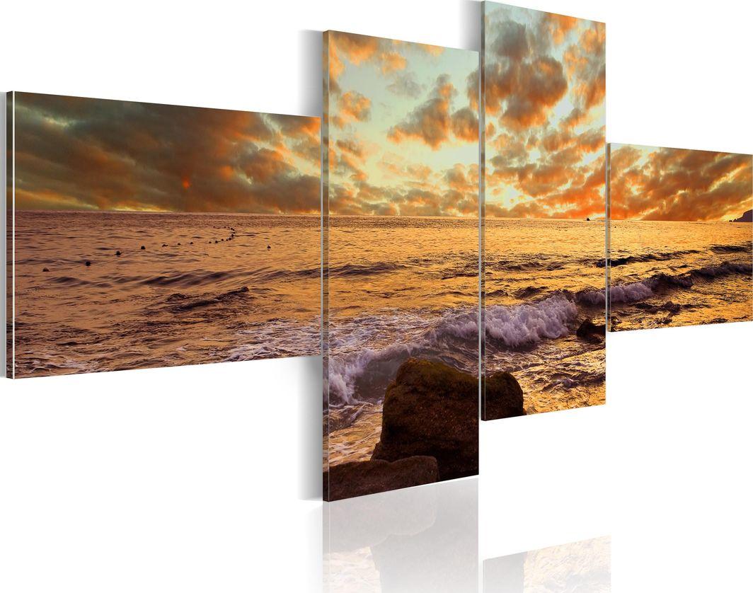 Artgeist Obraz - Zachód słońca nad morzem ARTGEIST 1